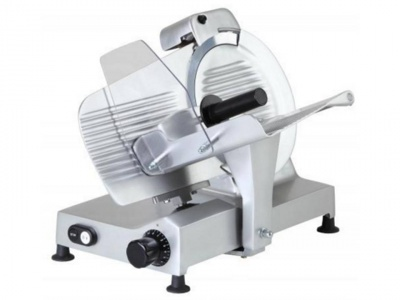 Belt driven gravity slicer, blade 220 mm, 250 mm compact, 250 mm extended, 275 mm, available in monophase, norma CE