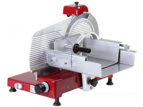 Painted vertical meat slicer, blade 300 mm, 330 mm, 350 mm, 370 mm, 380 mm, available in monophase and threephase, norma CE