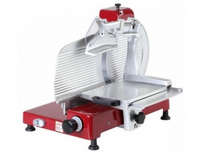 Painted vertical slicer for cold cuts, blade 300 mm, 350 mm, 370 mm, 380 mm, available in monophase and threephase, norma CE