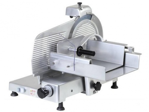 Vertical meat slicer, with blade 300 mm, 330 mm, 350 mm, 370 mm, 380 mm, available in monophase and threephase, norma CE