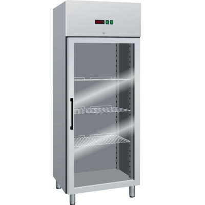 Ventilated Refrigerated Cabinets GN 2/1 with glass door, TN -2 +8°C, dim. 740x830x2010h mm