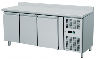 Ventilated Refrigerated  Counters GN 1/1  with 10cm raised back, dim.1795x700x960h mm