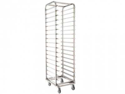 Trolley trolley on stainless steel wheels for 40x60 Cm