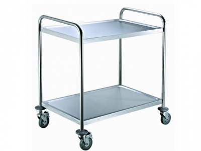 Trolley with 2 shelves in stainless steel, dimensions 810X460X850 mm