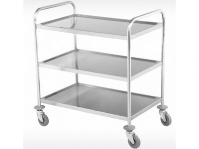 Trolley with 3 shelves in stainless steel, dimensions 860X540X940 mm
