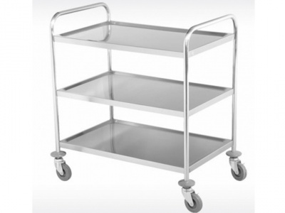 3 stainless steel shelving trolley trolley, dimensions 810x460x850 mm