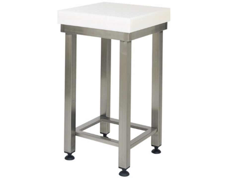 Mondial chef polyethylene stool with tubular stainless steel stool