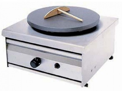 Gas crepe machine single Dimensions: Diameter 35cm
