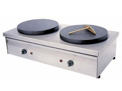 Crepe machine electric double  Dimensions: Diameter 35cm