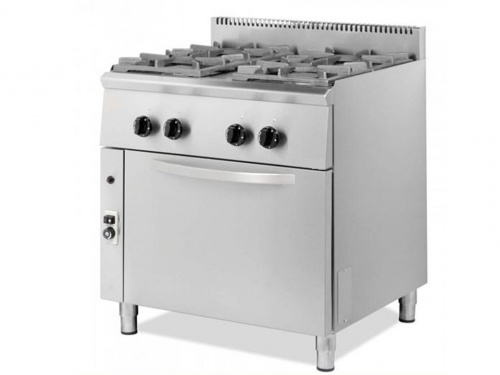 Gas cooker with oven, 4 burners - VMX Line