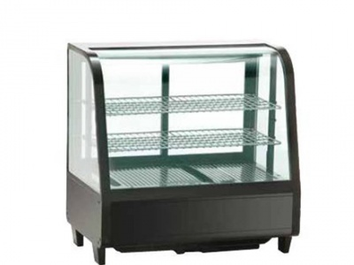 Countertop refrigerated display case,normal temp. +2 +12°C,dim. 682x450x675h mm