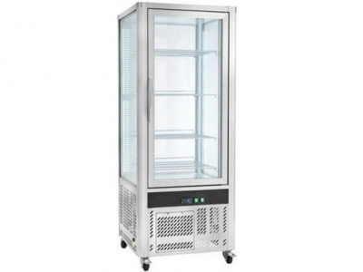 Refrigerated display for pastry, temp. Normal +2 + 8 ° C, dim.706x706x1800h mm