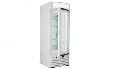 Vertical showcase with static or ventilated refrigeration, normal temperature