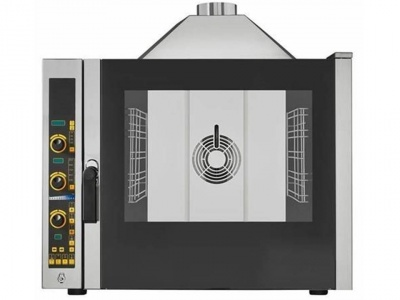 Gas electronic combi oven, n°5 trays/grids 1/1 GN