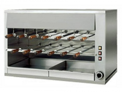 Rotisserie in stainless steel with 2 layers, 13 swords in stainless steel 50cm, dim.1100 x 570 x 720 h mm