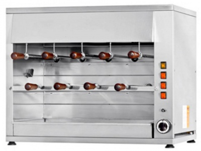 Rotisserie in stainless steel, 2 layers, 9 swords in stainless steel 50cm, dim. 900 x 570 x 720 h mm