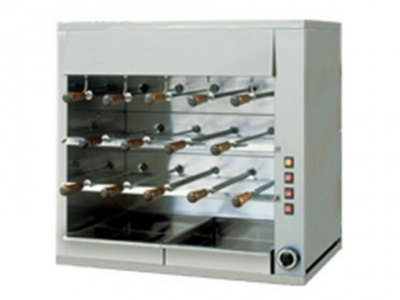 Rotisserie in stainless steel with 3 layers, 14 swords in stainless steel 50cm, dim.900 x 570 x 900 h mm