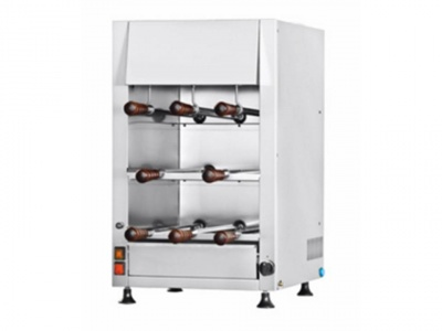 Rotisserie in stainless steel, 3 layers, 8 swords in stainless steel 50cm, dim.455 x 575 x 774 h mm