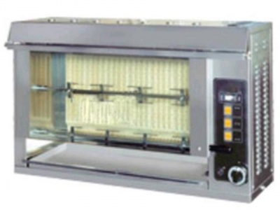 Rotisserie Verticale, chicken capacity up to 12 pieces of 1 Kg, dim.1000 x 300 x 620 h mm