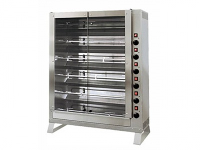 Vertical rotisserie with tempered glasses, capacity n.24 chickens, dim. 920 x 390 x 1220 h mm