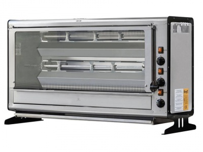 Vertical Rotisserie with tempered glass front, capacity n.12 chickens, dim.920 x 390 x 650 h mm