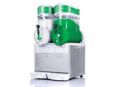 Granita dispenser with 2 bowls, 15 Lt capacity