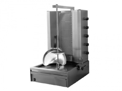 Doner kebab gas with 5 burners horizontal, motor down