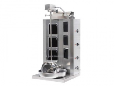 Doner kebab electric with 6 elements vitroceramics