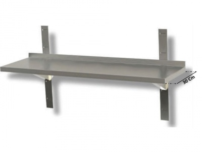Stainless steel shelf  Various sizes, depth 30
