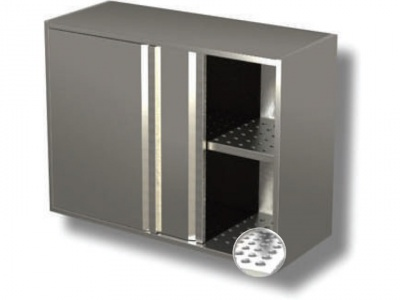 Wall cabinet with sliding doors and drainer - 1 shelf H cm 65 copia