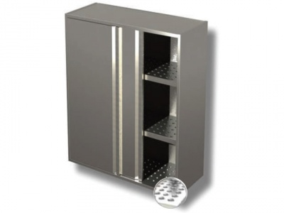 Wall cabinet with sliding doors and drainer - 2 shelf H cm 100