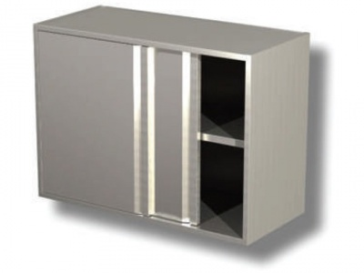 Wall cabinet with sliding doors and 1 shelf H cm 65