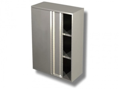 Wall cabinet with sliding doors and 2 shelf H cm 100
