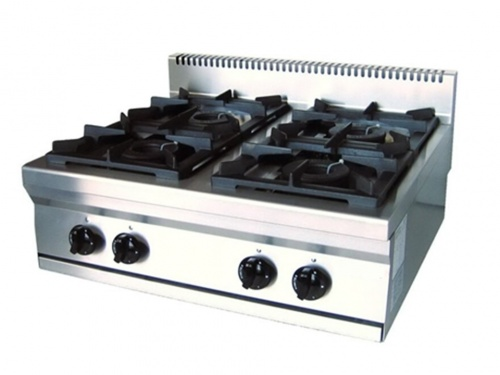 Gas cooker 4 burners for table - VMX Line