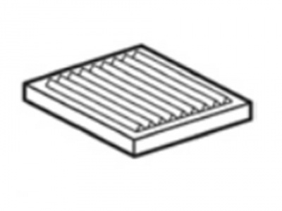 Radiant ribbed plate for fires, dim. 370x290x25 mm - EKO7 Line - EM7 Line - EM9 Line