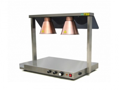 Food Warming Station Infrared with 2 lamps anti-blust 250 w included