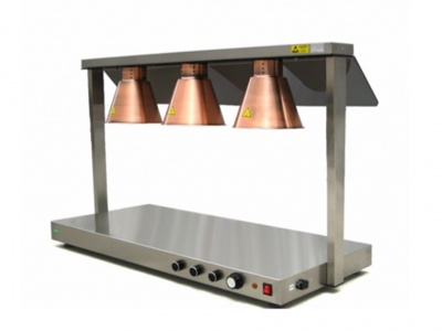 Food Warming Station Infrared, with 3 lamps anti-blust 250 w included