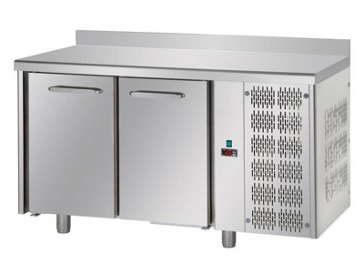 2 doors Stainless Steel GN 1/1 Refrigerated Counter -