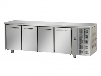 4 doors Stainless Steel GN 1/1 Refrigerated Counter