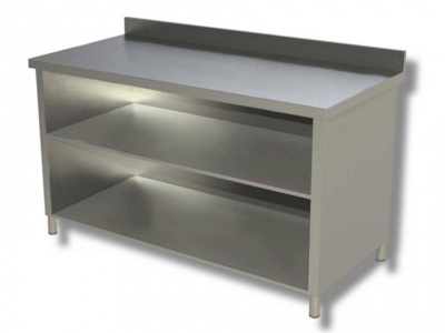 Open cabinet with 2 shelves and upstand, model 70