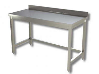 Work tables on legs and frame with upstand, model 70