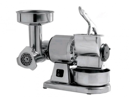 Meat Mincer Grater in stainless steel and aluminium, dim.380x260x360 mm