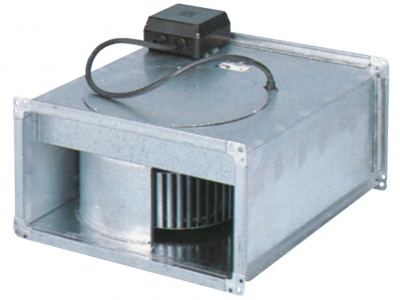 Range of centrifugal fans for mounting in rectangular ducts in air conditioning and air conditioning systems.
