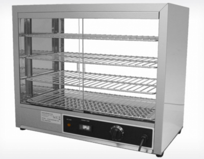 Hot Showcase with 4 extractable and adjustable shelves, dim. 640x340x530 mm