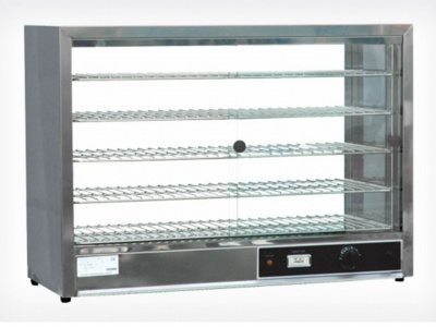 Hot Showcase with 4 extractable and adjustable shelves, dim.865x335x620 mm