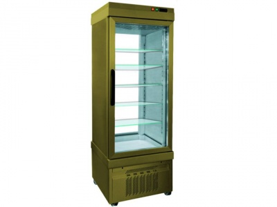 Vertical Refrigerated Showcase for pastry, temp. +10°C/-5°C with 2 glass sides