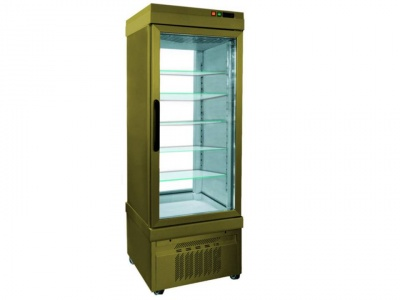 Vertical Refrigerated No-frost Showcase for pastry,temp. low -25°C/+5°C with 2 glass sides