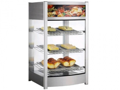 Hot displays with 3 shelves, dim. 460x450x785h mm